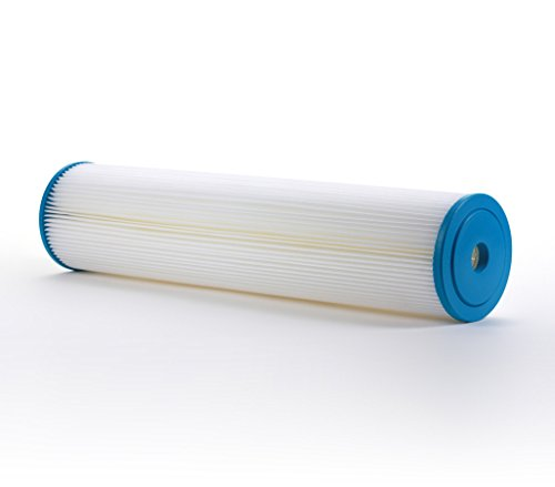 Hydronix SPC-45-2005 Pleated Water Filter Whole House Commercial Industrial Washable and Reusable, 4.5' x 20' - 5 micron