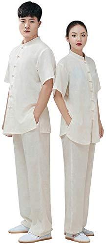 HLZY Uniformes Tradicionales Chinos de Tai Chi Kung Fu Ropa de práctica de algodón y Ropa de Cama para Mujer, Ropa de Artes Marciales, Equipo de Rendimiento del Equipo de Hombres