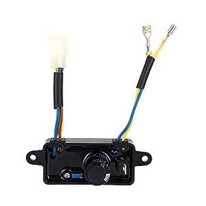Regulador de voltaje rectificador, motor en forma de arco AVR monofásico for generador de gasolina 2KW-3KW Generador eléctrico 1 piezas (negro)