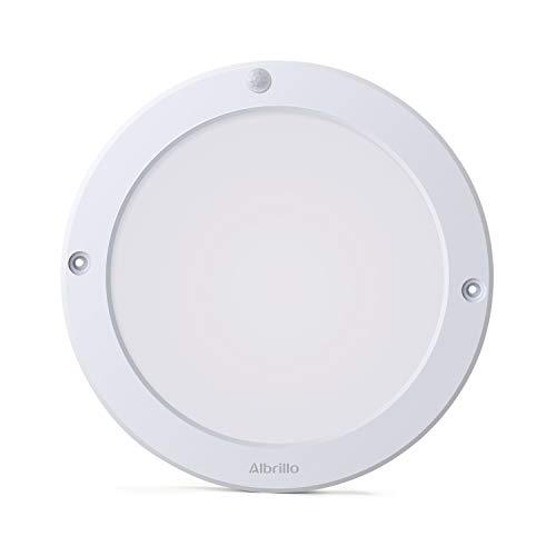 Albrillo Plafonnier LED - 18W avec Détecteur de Mouvement avec Détection Infrarouge, Angle de Faisceau 120°, 1300LM 4000K Blanc, Lampe de Plafond pour Couloir, entrée