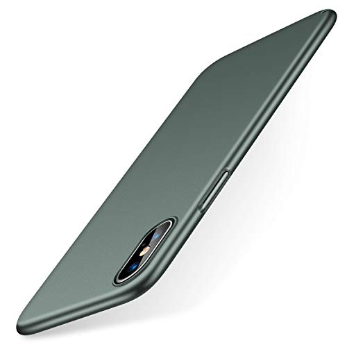TORRAS Slim Fit iPhone Xs Case/iPhone X Case, Hard Plastic PC Super Thin Mobile Phone Cover Case with Matte Finish Coating Grip Compatible with iPhone X/iPhone Xs 5.8 inch, Midnight Green …