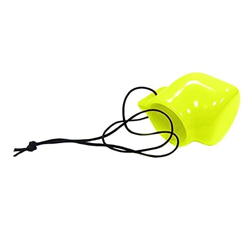Sharplace Tapa de la válvula del Yugo del Tanque de Buceo con Cable de retención-plástico de PVC, Ligero y práctico - Amarillo