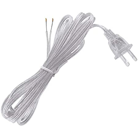 B P Lamp 6 Feet Spt 1 18 2 Lamp Cord Set Clear Silver Home Kitchen