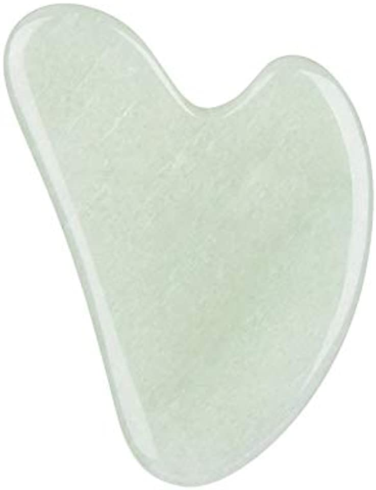 Gua Sha Facial Tool,Gua Sha Stones,Natural Jade Stone Guasha Board for SPA, Gua Sha Scraping Massage Tool on Face, Eye, Neck - Beauty Jade Facial Roller for Slimming Firming (Light Green)