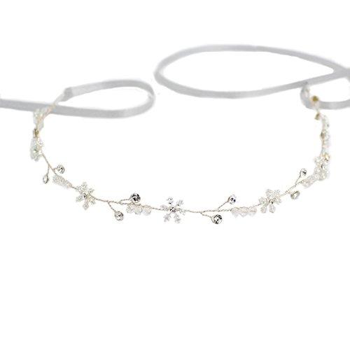 YAZILIND Mode Tiara Elegante Legierung Schneeflocke Strass Braut Hairband Silber Frauen Mädchen Haarschmuck für Hochzeitsgesellschaft