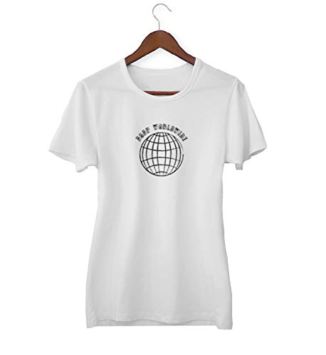 ASAP Worldwide Globe Earth Travel_KK018979 Shirt T-Shirt Tshirt Für Frauen Damen Gift for Him Present Birthday Christmas - Women's - XL - White