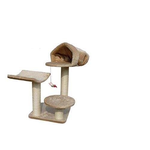 Myyxt Kat Platform Slippers Nest Pluche Huis Boom Sisal Houten Kat Klimrek