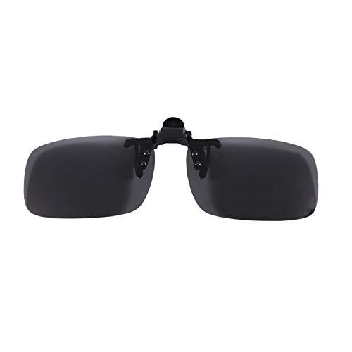 Fltaheroo Unisex Schwarz und grau Rechteck Aufklappen Sport Zum Anklammern Polarisierend Sonnenbrille
