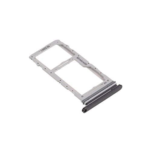 jbTec Dual SIM-Tray/SD-Card Karten-Halter passend für Samsung Galaxy S20+ Plus / S20 Ultra / 5G - Slot Schlitten Kartenhalter Karte Rahmen Fach, Farbe:Schwarz