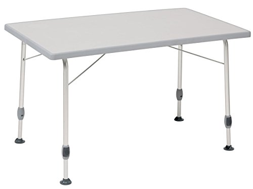DUKDALF- Ultraleichter stabiler und klappbarer Tisch mit einer wetterfesten Tischplatte und einem Aluminium anodisierten Gestell- Nur 6 KG leicht - Belastbar 50 KG - Tisch 100 x 68 cm GRAU - Tischbeine mit Auflagenvergrößerung gegen Einsinken auf weichem Grund - VERTRIEB durch - Holly ® Produkte STABIELO ® - holly-sunshade ® - patentierte Innovationen im Bereich mobiler universeller Sonnenschutz - Made in Germany -