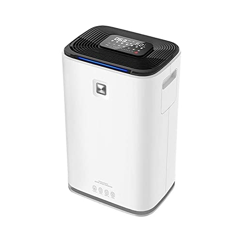 ELXSZJ XTZJ 5600 ml Air Dehumidifier w/Air Purifying Function, True HEPA Filter, Auto Shutoff, Touch Control Adjustable Air Speed, Ultra-Quiet, Ideal for Closets and Bathrooms