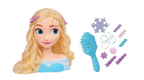 Smoby 7600320311 Frozen ELSA, Frisierkopf, Frisierpuppe, Styling-Kopf, für Kinder ab 3 Jahren, Bunt
