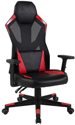 Taburete de bar THBEIBEI silla de oficina giratoria silla de juego ergonómica oficina silla de trabajo E-sports silla, silla de ordenador elevador hogar apoyabrazos ajustable negro