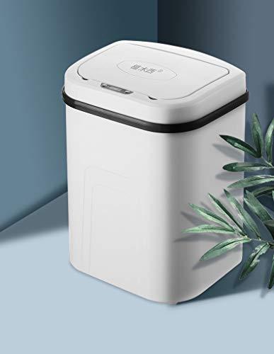 MAGIC SELECT Cubo de Basura con Sensor, Inteligente sin Necesidad de Contacto, automático, 15L, Sensor de Amplia Apertura, para Cocina,Dormitorio, Baño Y Oficina Color Blanco.