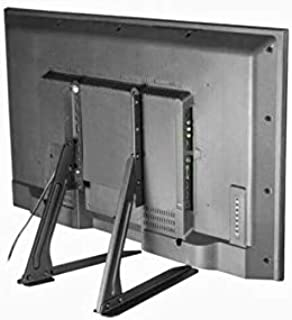 Television Table Top Base stand Steel, Black, 30 inch - 75 inch, for any television,