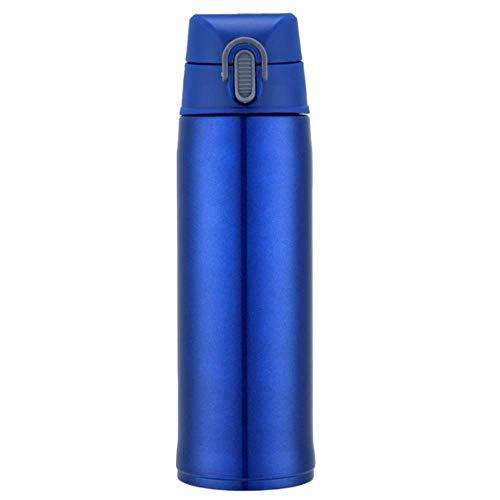 Koude fles, waterfles, dubbelwandig, vacuüm-geïsoleerde roestvrijstalen thermosfles, 12 uur warm, 24 uur koud, voor school, fitness, reizen, buiten, BPA-vrij 500ML 7