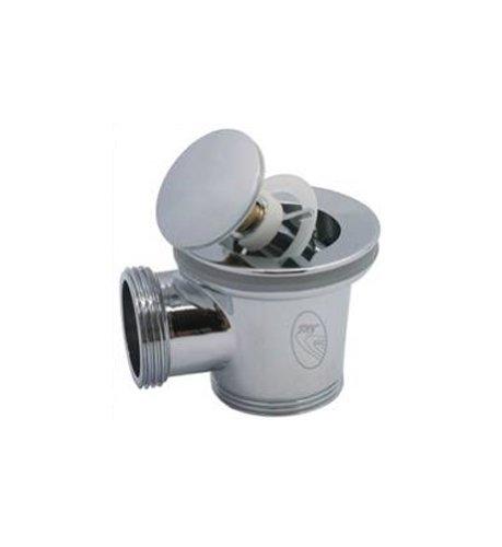 Sky-Click ST-Click Pop Up afvoerventiel, voor badkuip of gootsteen, met overloop, messing 1 1/2 inch
