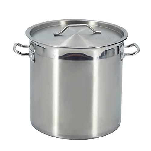 T-CAT Olla de acero inoxidable con tapa de 3 capas, base compuesta, olla grande para sopa y sopa, 3 modelos a elegir (36 - 36 cm)