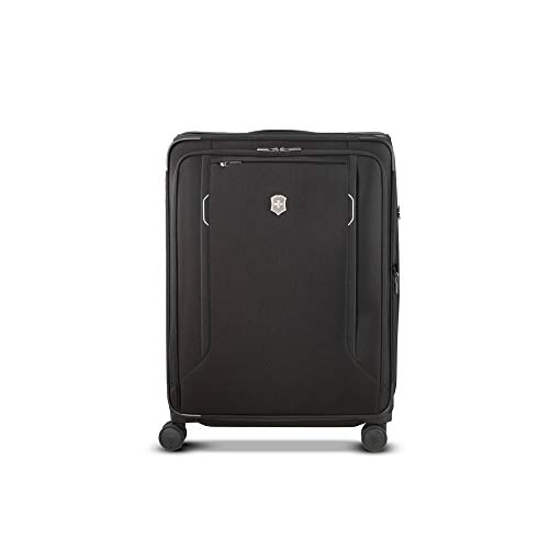 Victorinox WT 6.0 Softside Spinner Luggage, Black, Checked-Large (27')