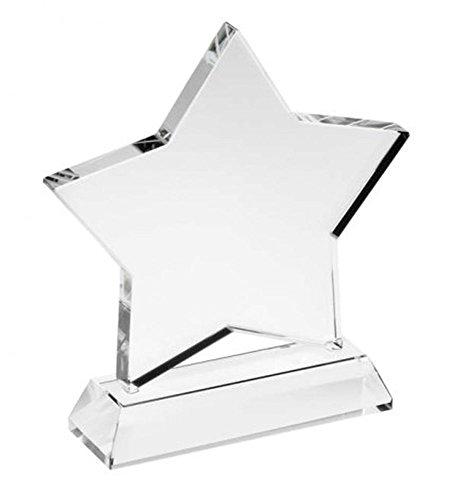 Trofeo Estrella de Cristal Blanco cod.EL31492 cm 3x10x13,5h by Varotto & Co.