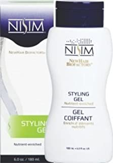 NISIM NewHair BioFactors Styling Gel - Nutrient-rich Styling Gel Formulated To Provide Superior Hold, Maximum Protection And Deep Nourishment (6 Ounce / 180 Milliliter)