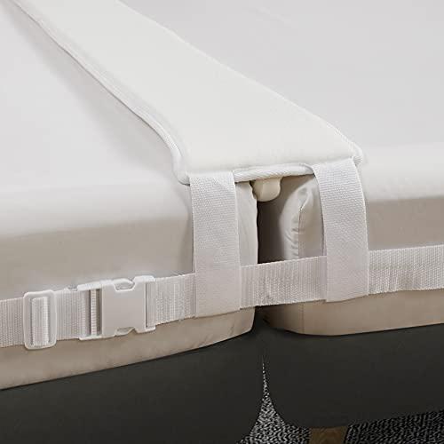 VINILITE Kit convertidor de Puente de Cama Individual a King Conector de colchón para Invitados Protección de los Bordes Estadías y Reuniones Familiares