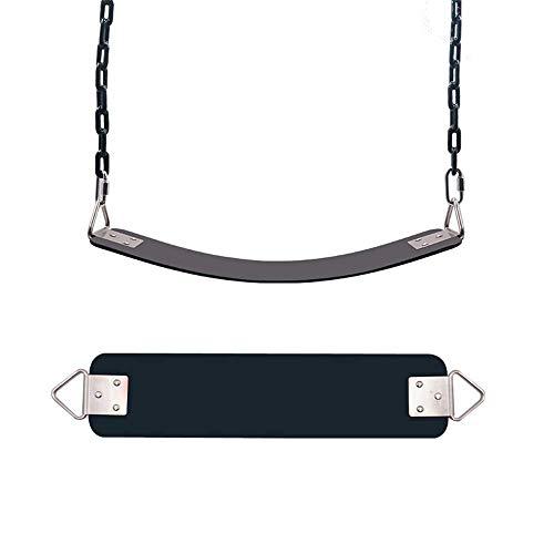 Life accessories Columpios para niños Asientos resistentes con cadena Juego de columpios para juegos con revestimiento de plástico Reemplazo de accesorios con ganchos de presión (Color: Rojo Tamaño