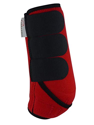 APPALERO Horse Boots V3, Gamaschen, Paar oder 4er Set, Größe Cob, Rot (2 Stück, Rot)