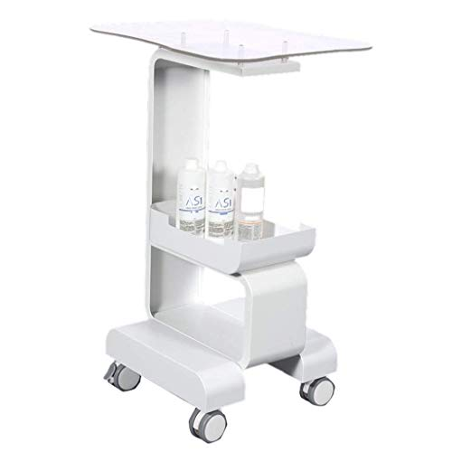 Yaeele Trolley - Mobile Storage Rack-Werkzeugwagen-Speicher-Bracket Schönheitssalon Trolley praktisch Geeignet für Büro-Badezimmerküche Kinder RO