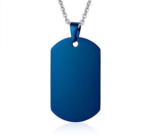 VNOX Nombre de Acero Inoxidable Plateado Azul Fecha Grabado Personalizado Alto Polaco Mascotas...