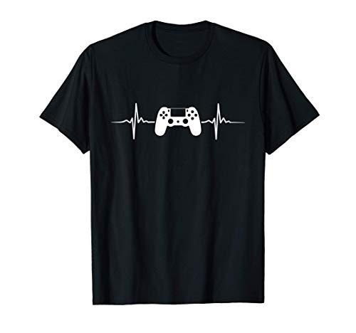 Gaming Zocken PS Konsole 5 Herzschlag Gamer T-Shirt