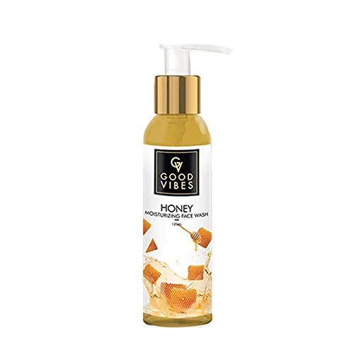 Good Vibes Honey Moisturizing Face Wash – 120 ml – Hydrating and Deep Pore Cleansing for Acne, Dry and Inflamed Skin – Cruelty Free