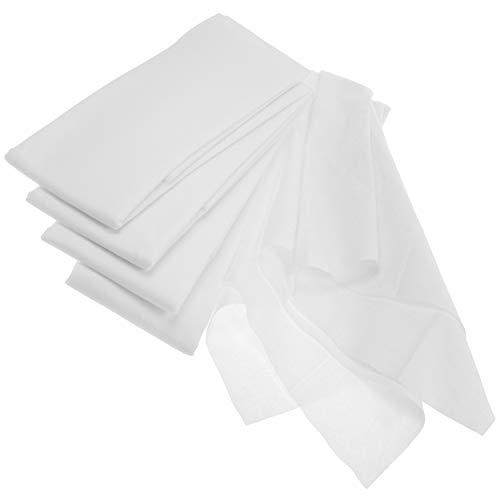 com-four® 5x Seihtuch, Passiertuch und Knödeltuch, klassische feingewebte Tücher in Weiß, wiederverwendbar mit hoher Reißfestigkeit selbst bei hoher Feuchtigkeit, 75 x 70 cm