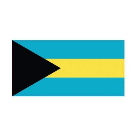 Sticker vlag Bahamas 8 cm