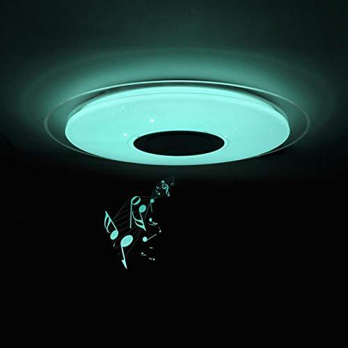 Moderno Música Lámpara De Techo Con Altavoz Bluetooth, 45Cm RGBW Regulable Pantalla De Cielo Estrellado 3D Para Baño Cocina Decoración De Fiesta, Aplicación Y Control Remoto,45cm60w