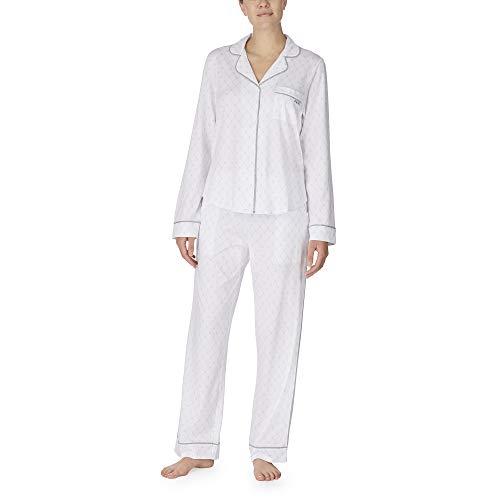 DKNY Damen Schlafanzug Gr. Large, weiß