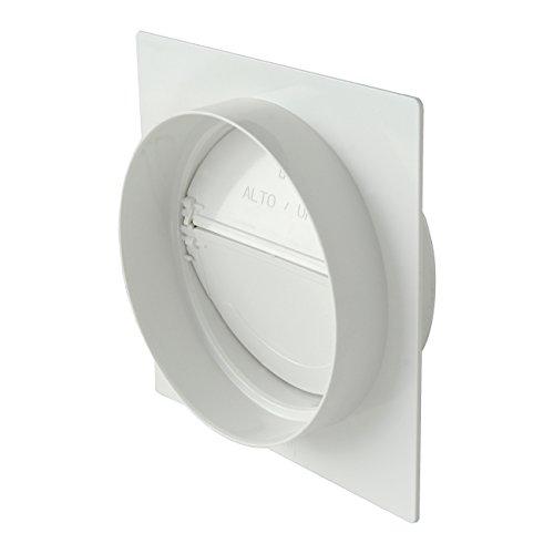 De ventilatie PMV125B wandhouder, rond, met ventiel, niet-lichte lucht, diameter 125 mm.
