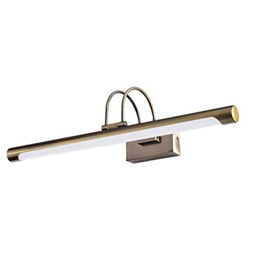WYZ Spiegel Voorlicht Retro Europese Spiegellamp Badkamer Spiegelkast Lamp Waterdichte LED Make-up Licht Brons [Energie Klasse A+] (Kleur : Tri-Color)