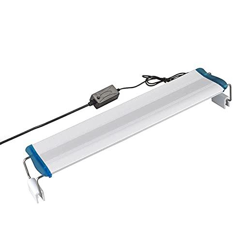 Worth having - Apparecchio di pesce impermeabile Apparecchio regolabile Acquario Lampada Lampada Pianta dell'Acquario Bianco Blu Illuminazione Super Slim LED, più luce dell'acquario for serbatoi piant