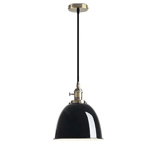 Plafondlamp, vintage, modern, Hai Ying Industriel, diameter 20,5 cm, diameter Nautical Retro ijzeren hanger in koepelvorm, voor woonkamer, winkel, outlet librairie (zwart