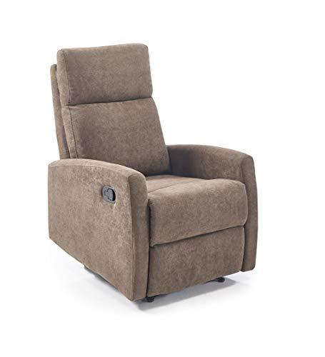 Home Heavenly -Butaca, sillón Relax Niza, reclinable con Palanca, sillones, Comodo y Elegante en tapizado Tostado