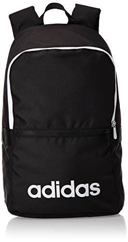 Adidas Linear Classic Daily Backpack - Black/Black/White, One Size
