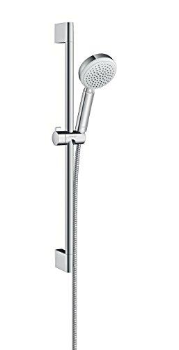 Hansgrohe 26651400 Crometta 100 Vario set de ducha, 4 tipos de chorro, 0,65m, blanco/cromo