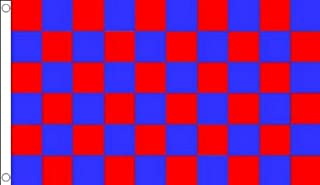 AZ FLAG Red and Blue Check Flag 3' x 5' - Checkered Racing Flags 90 x 150 cm - Banner 3x5 ft