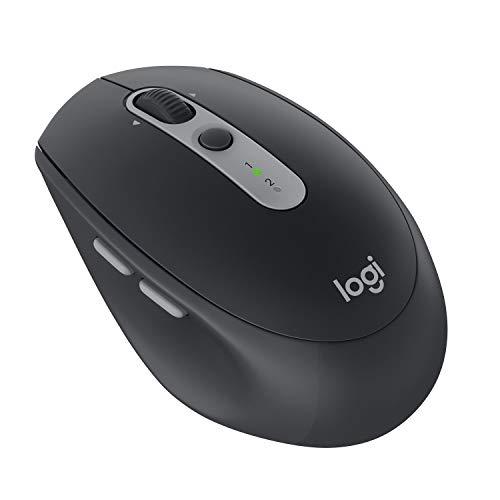 Logitech M590 Ratón Inalámbrico Silencioso, Multi-Dispositivos, 2,4 GHz o Bluetooth con Receptor USB Unifying, Seguimiento 1000 DPI, Batería 2 Años, PC/Mac/Portátil, Negro