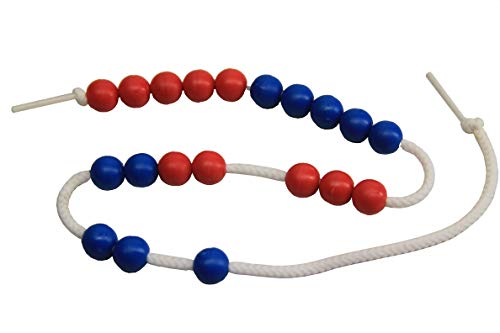 WISSNER® aktiv lernen - 20er Rechenkette rot/blau - RE-Plastic®