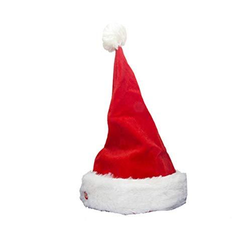 URMAGIC Weihnachtsmütze Singende und tanzende Nikolausmütze Weihnachtsmann Singener Figure Geschenk Spielzeug Kinder Weihnachten Dekorationen(Zipfelmütze die Sich bewegt)