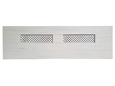 materiales: madera maciza de pino insigni medidas: 160 x 44 x 3 (ancho,alto,grueso) acabado: Blanco Vintage cabecero de una pieza con anclajes para la pared