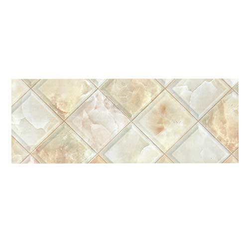 Yemiany cenefas adhesivas,Bordes de pared de cocina,Papel pintado impermeable Pegatinas de azulejos de borde Cintura extraíble Bordes de azulejos Decoración de pared para Baño Cocina Balcón(5X0.15M)