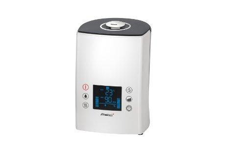 Steba Luftbefeuchter LB 7 | Ultraschallvernebelung min. 250 ml/h bis max. 400 ml/h | Ionisation zuschaltbar | Luftfeuchtigkeitsregelung 45% bis 90% | 3 Geschwindigkeitsstufen | Ökostufe 30 W | 5 Liter